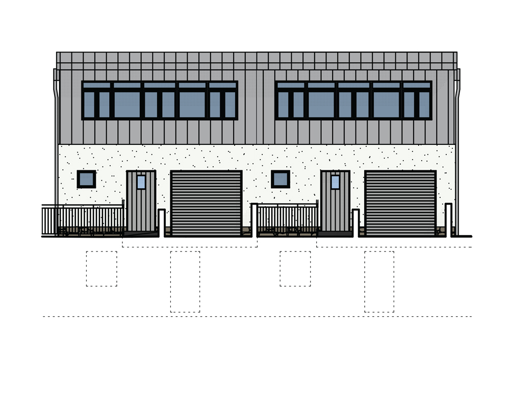 Pair of 4 Bedroom, Semi-Detached (Rear)