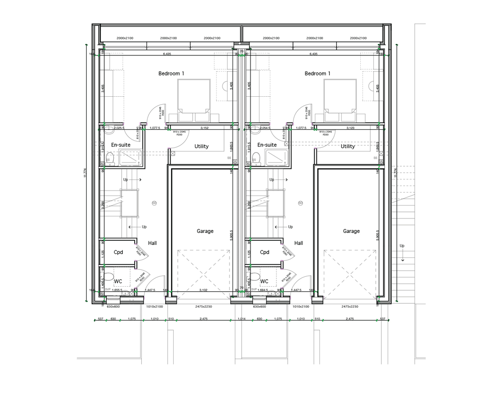 Pair of 4 Bedroom, Semi-detached (First Floor Plan)