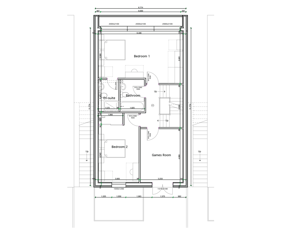 Detached  (First Floor Plan)